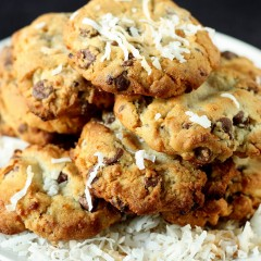 Chocolate Chunk Coconut Cookies