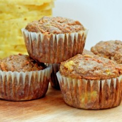 Carrot Pineapple Sunshine Muffins
