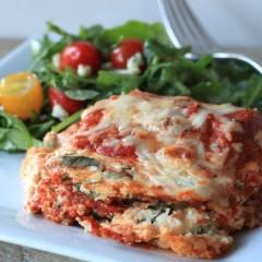 Eggplant Red Pepper Lasagna