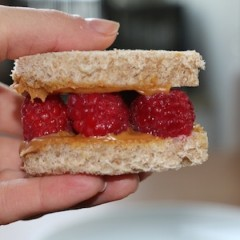 Raspberry Peanut Butter Sandwich