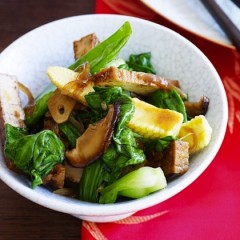 Ginger Tofu Stir Fry with Snow Peas