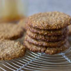 Sunflower-Sesame Molasses Cookies