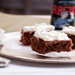 Vegan Brownies with Peppermint Frosting
