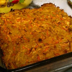 Kasha, Potato, and Carrot Casserole with Mushroom Gravy