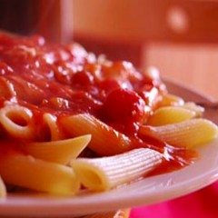 Penne with Sweet and Creamy Red Pepper Sauce