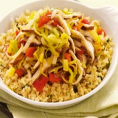 Quinoa with Leeks and Shiitake Mushrooms