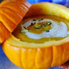 Spicy Stew in a Pumpkin Shell