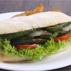 Spicy Zucchini Sandwich