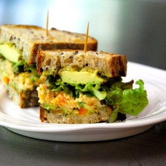 Sundried Tomato and Pesto Chickpea Fritter Sandwiches