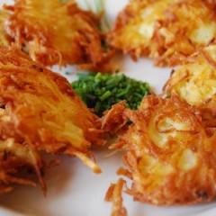 Potato and Caramelized Onion Latke