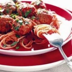 Spaghetti with Eggplant Meatballs