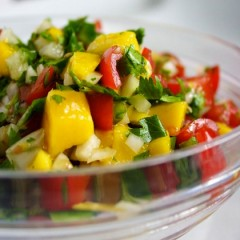 Fresh Pineapple and Mango Salsa