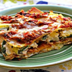 Aubergine and Leek Lasagna
