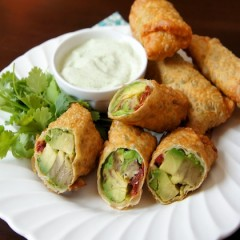 Avocado No-Egg Rolls